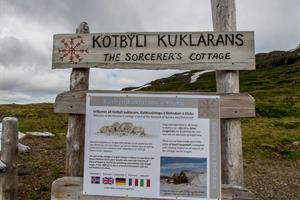 Information sign on The Sorcerer's Cottage