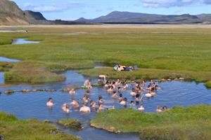 Bathing in Landmannalaugar