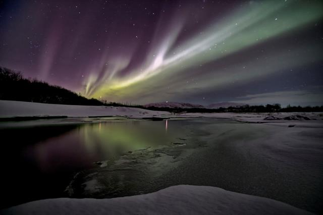Northern Lights - Aurora borealis in Iceland