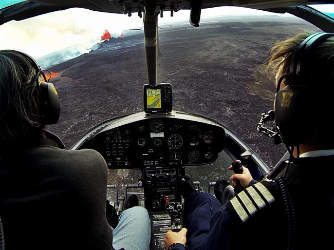 Volcano Eruption Helicopter Tour in Iceland