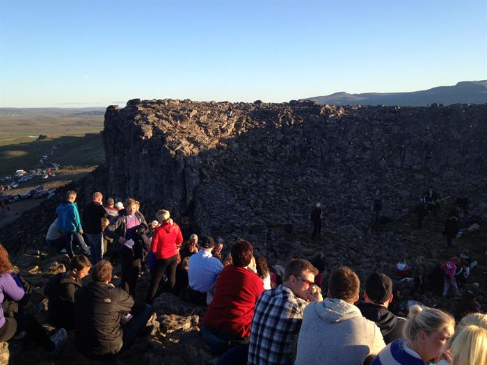 Concert at Borgarvirki in Northwest Iceland