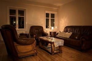It is ideal to sit down and relax in the warm living room after a wonderful day of exploring Iceland in winter