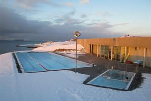 The Swimming pool at Hofsós on a beautiful winter day