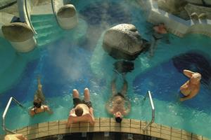 Relaxing in geothermal hot pools is a favourite pastime of Icelanders