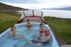 Hot tub at Mjóeyri