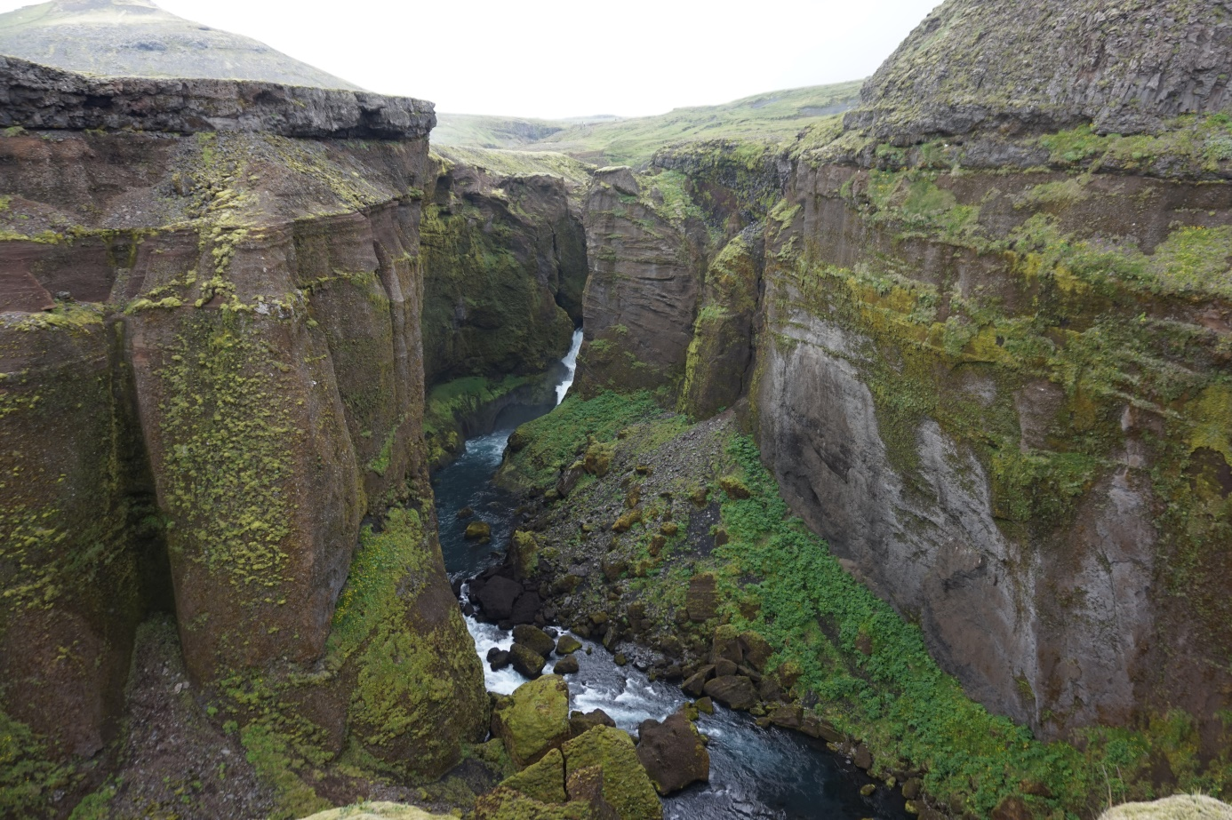 Fjaðrárgljúfur canyion in South Iceland