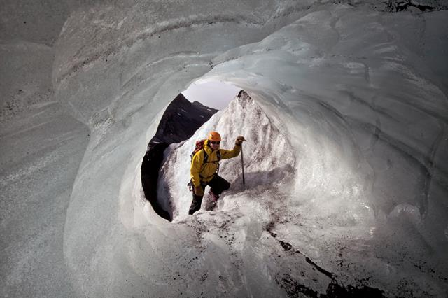 Ice caves in South Iceland
