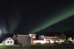 Northern lights over Lake Hotel Egilsstaðir