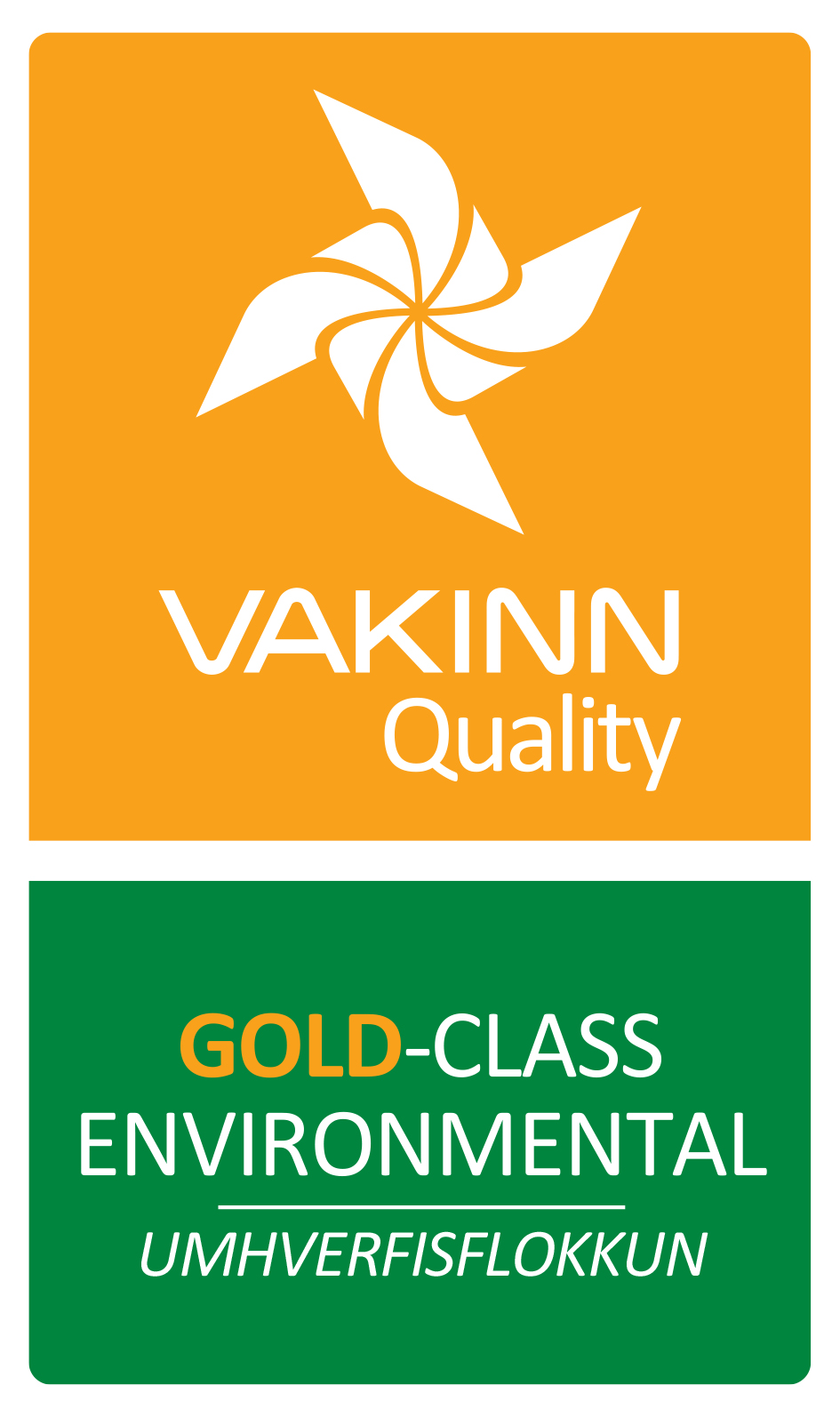 Icelandic Farm Holidays er certified by VAKINN as Environmental Gold-class