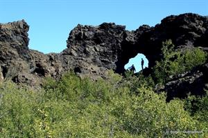 Walk amongst the mystical lava formations at Dimmuborgir lava fields - North