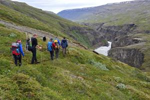 Enjoy a guided hike in the beautiful landscape surrounding the Wilderness Center