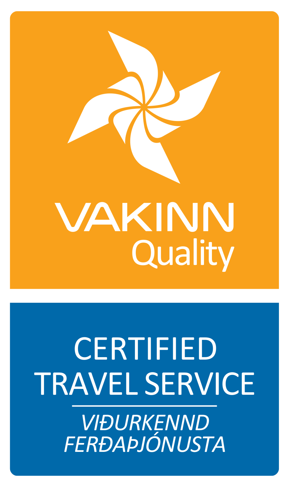 Icelandic Farm Holidays er certified by VAKINN as Travel Service