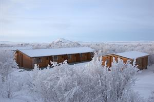 Vogafjós by Lake Mývatn in winter