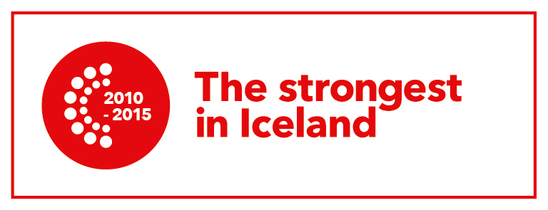 The Strongest in Iceland acknowledgement in 2010-2015