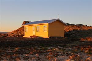Sunset Cottage at Fossatún. Four person cottage with two bedrooms.