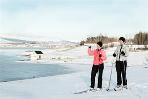 Rent cross-country skis during the winter months and enjoy the outdoors