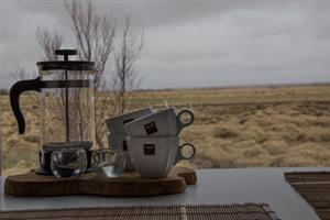 Enjoy your morning coffee with a view of the countryside.