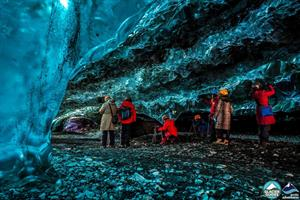 Visiting an ice cave is a unique experience