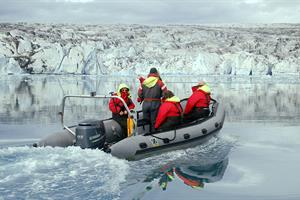 Enjoy a zodiac tour on Jökulsárlón Glacier Lagoon