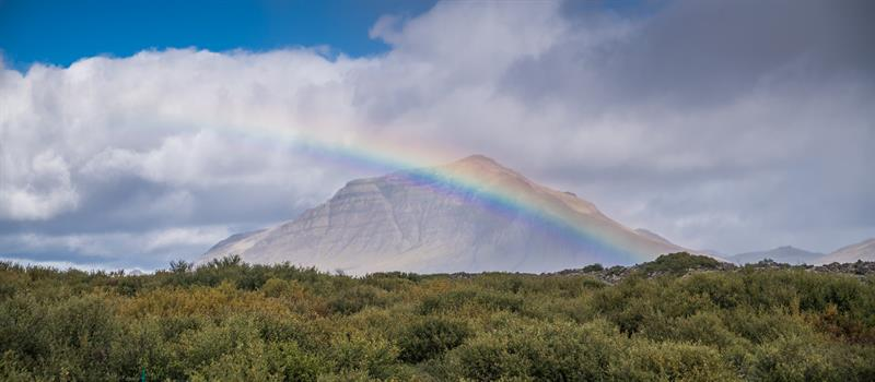 Rainbow in West Iceland