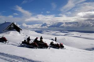 Enjoy a scenic snowmobile ride on Mýrdalsjökull Glacier