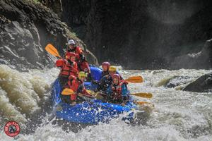 Whitewater action on the glacial river