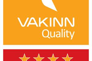 Ensku Húsin is certified as a 4 star guesthouse by Vakinn