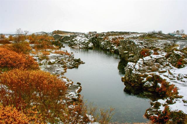 Thingvellir National Park in the winter