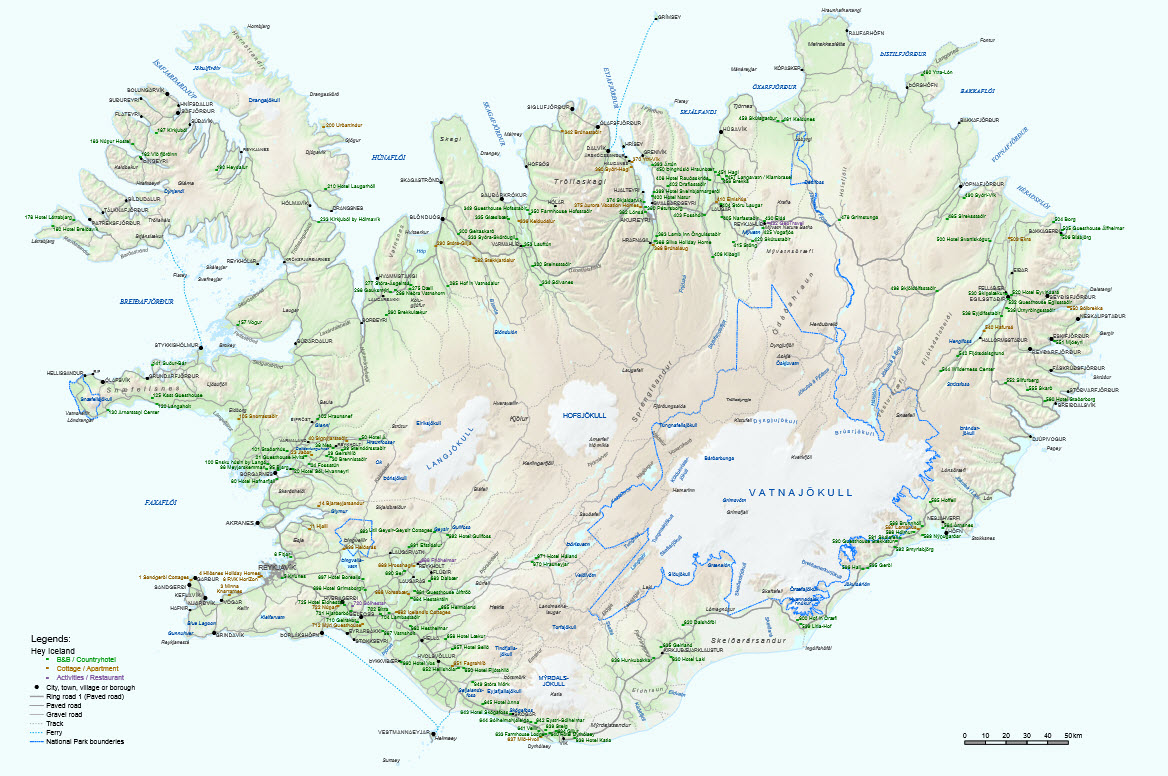 photograph regarding Iceland Map Printable identify Brochures map of lodging inside of Iceland HeyIceland.is