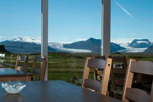 View towards Vatnajökull Glacier from the restaurant