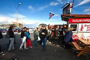 Hot dog and soda - most popular food in Reykjavík