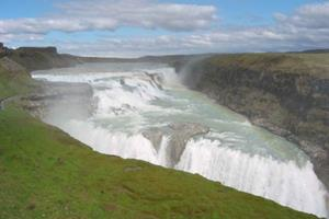 Waterfall Gullfoss SOuth Iceland