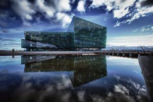 Harpa conference and music hall in Reykjavík