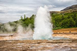 Eurption of Strokkur Geysir