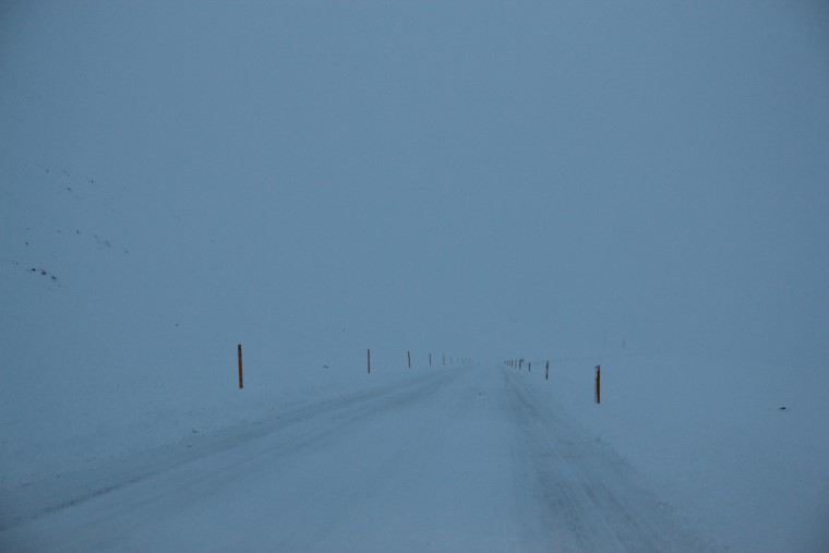 Driving in Icelandic winter