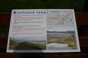 Information sign with hiking routes