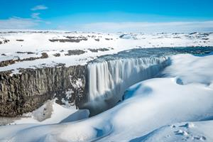 Dettifoss Waterfall in Winter