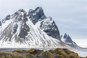 Stokksnes Mountains in Winter