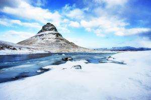 Kirkjufell Mountain in its winter coat