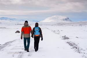 Couple travelling in Iceland
