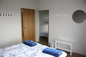 Family room with private bathroom  - double bed and bunk bed.