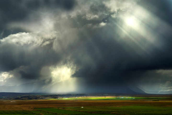 A passing storm in Iceland
