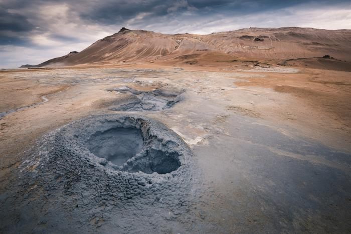 Hverir geothermal area in North Iceland