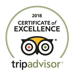 TripAdvisor Certificate of Excellence 2018 to Hey Iceland