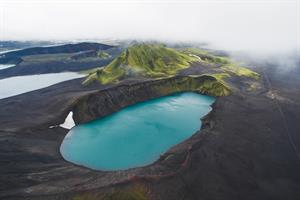 Hnausapollur Crater Lake