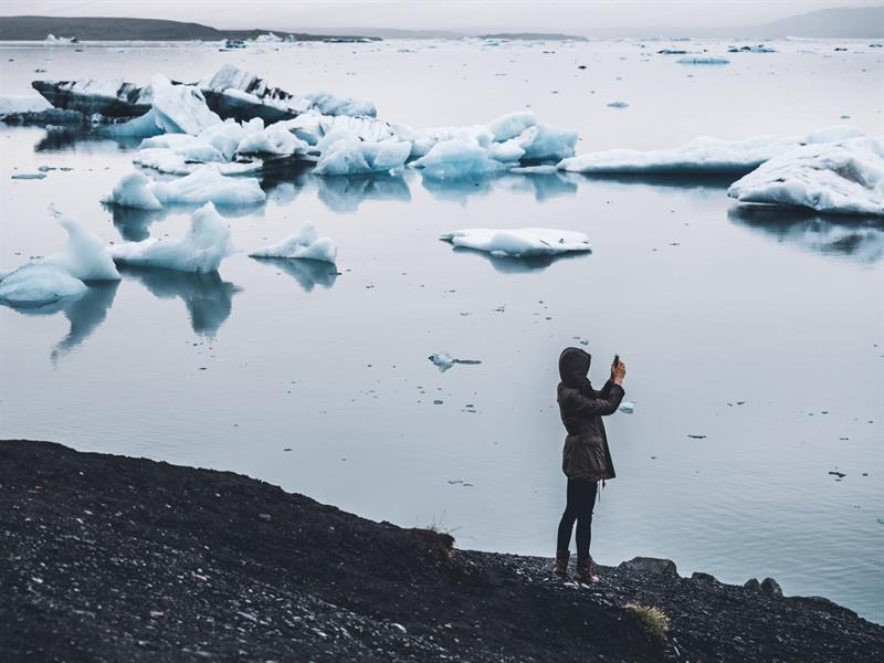 Jökulsárlón Glacier Lagoon in South Iceland