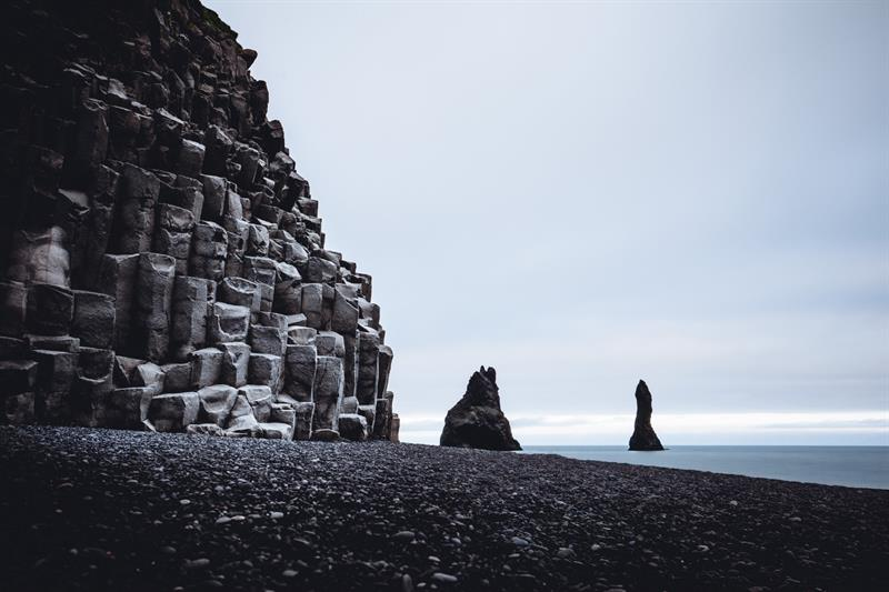 Reynisfjara Basalt Columns in South Iceland
