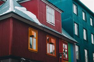 Colourful houses in Reykjavík