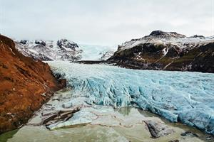 Glacier Tongue in South Iceland