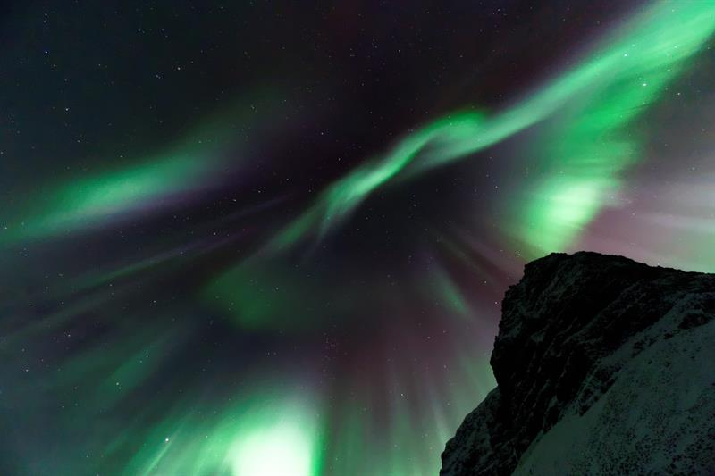 Northern Lights in the Westfjords in Iceland